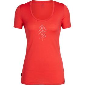 Icebreaker Tech Lite Lancewood SS Scoop Shirt Women ember